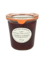 Van Woerkom Cranberry en kersenjam suikervrij 295 gr.