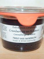 Van Woerkom Cranberry's en bramenjam mini weckpot 80 gr.